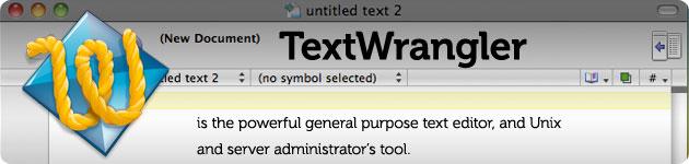 textwrangler powerful texteditor
