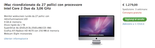 iMac 27 in offerta ricondizionato prezzo migliore