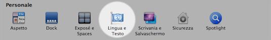 cambiare layout tastiera sul mac
