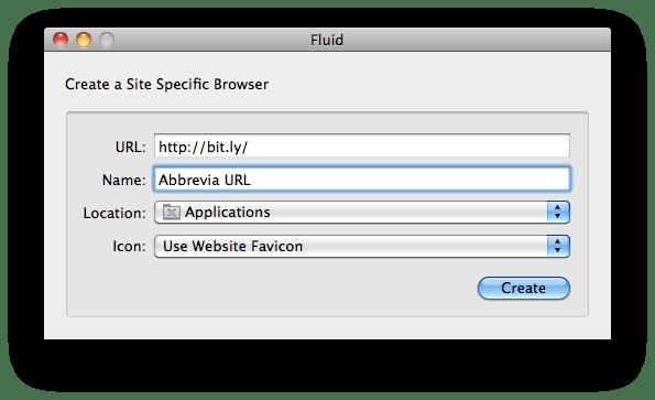 creazione applicazione web con fluid per abbreviare gli url con bit.ly