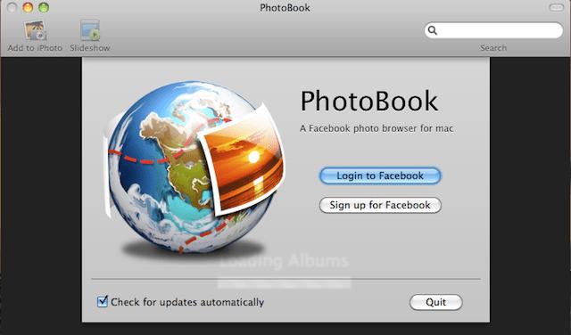 esportare album facebook