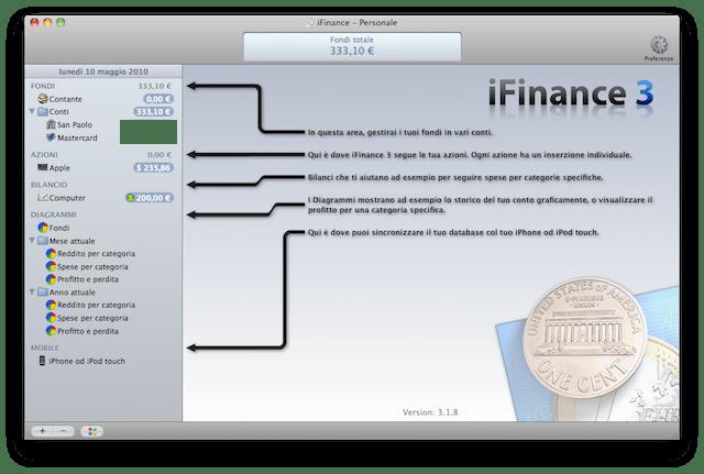 iFinance3 finanza personale mac
