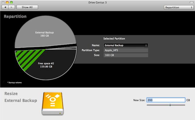 partizionamento mac dischi
