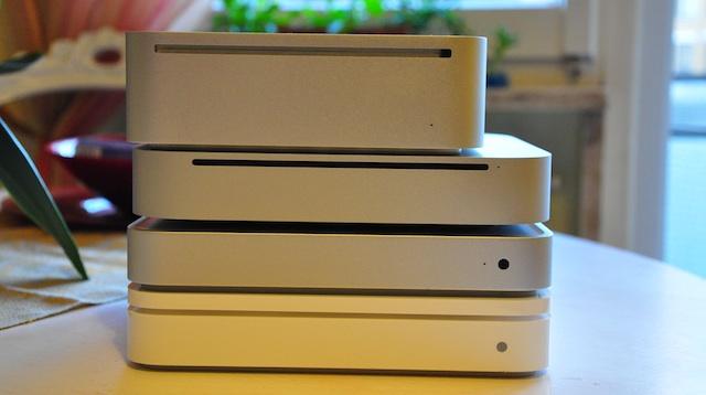 confronto mac mini apple tv time capsule