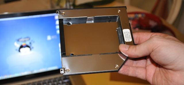 optibay un hard disk al posto del superdrive