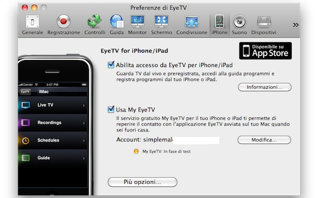 televisione su ipad iphone