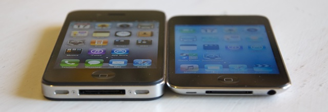 display ipod touch 4g iphone 4 a confronto