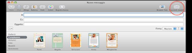 modelli apple mail