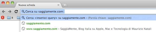 google chrome search