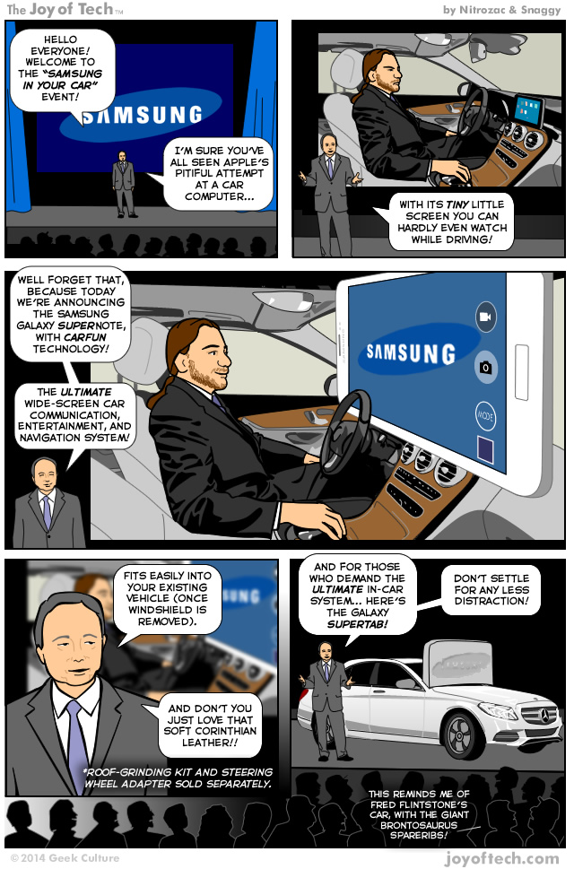 samsung in the car