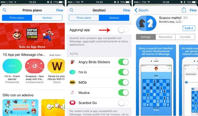 imessage-app-store-gestisci