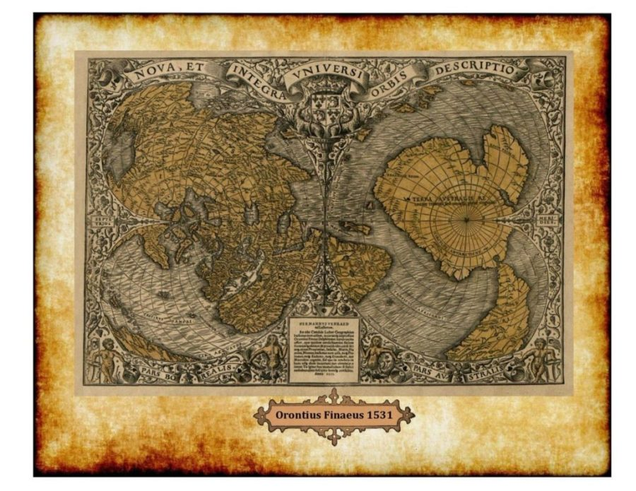 mappa oronteus finaeus antartide
