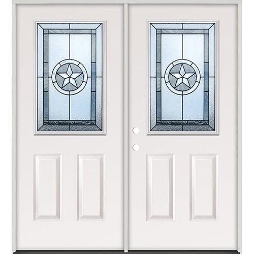Cheap Half Lite Texas Star Steel Prehung Double Door Unit 40