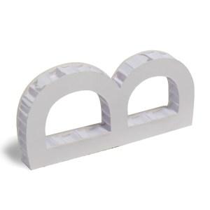 scritte 3D in nidoboard bianco