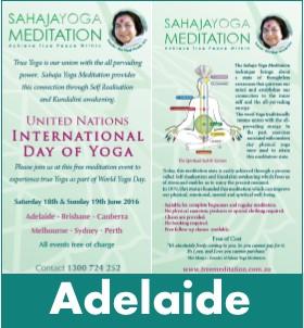 Adelaide Meditation World Yoga Day