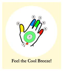 Feel the Cool Breeze on the palms of your hands