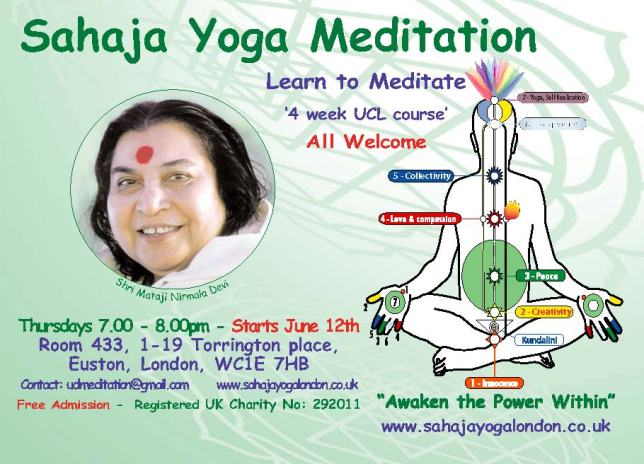 UCL Free Meditation Course - June 2014