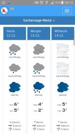 Der erste Blick auf den Wetterbericht