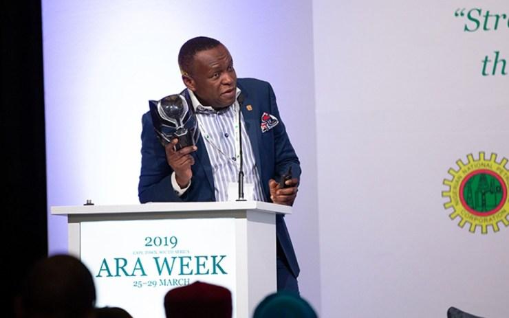Tope Shonubi addressing delegates at ARA Week 2019