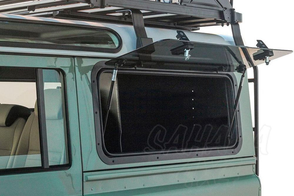 hight resolution of land rover defender puma gullwing box the front runner gullwing box is used in conjunction with the front runner gullwing window glass or front runner