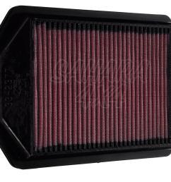 replacement air filter k n honda crv 2 4 petrol 07 09 k n 33 2377 [ 1600 x 1066 Pixel ]