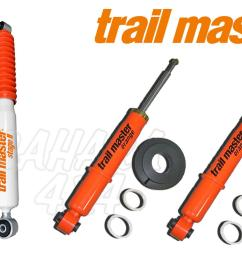 kit 4 trail master shocks stage ii volkswagen t3 4wd syncro complete kit 4 shocks [ 1600 x 1067 Pixel ]
