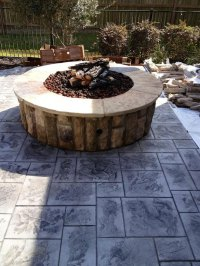 Custom Fire Pit | Patio Covers Katy TX | Patio Builder ...