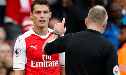 Xhaka deserved a dark yellow, he got a bright red – Wenger