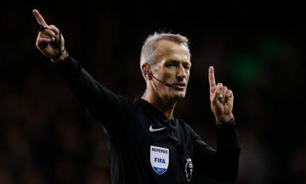 Martin Atkinson to referee the Manchester City vs. United derby
