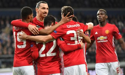 United draw at Anderlecht; Lyon rally to win