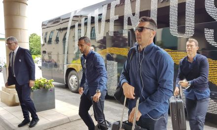 IN PICTURES: MADRID AND JUVENTUS ARRIVE IN CARDIFF