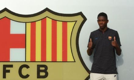 In Pictures: Barcelona Unveil Ousmane Demebele
