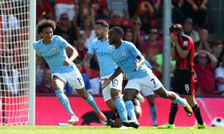 Late Sterling Winner Spares City's Blushes At Bournemouth