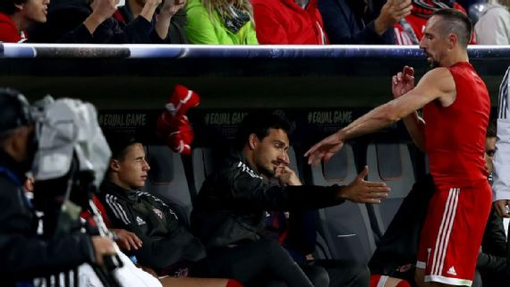 Franck Ribery's anger at substitution surprises Bayern boss Carlo Ancelotti