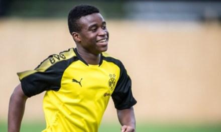 Youssoufa Moukoko, 12, hits 16 goals in seven games for Dortmund U17s