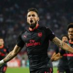 Arsenal edge 10-man Red Star Belgrade thanks to Giroud