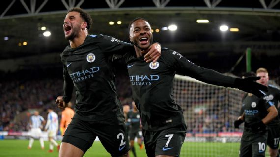 Man City Remain Unbeaten After Sterling's Late Heroics, Arsenal Win Late On