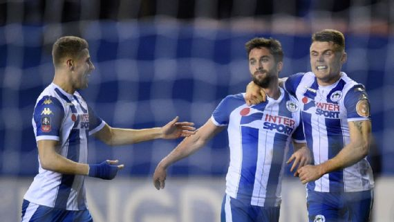 Will Grigg, Wigan end Man City's quadruple hopes with shock cup win