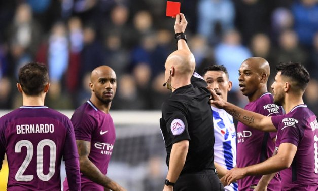 Man City's Fabian Delph banned for Carabao Cup final after red card