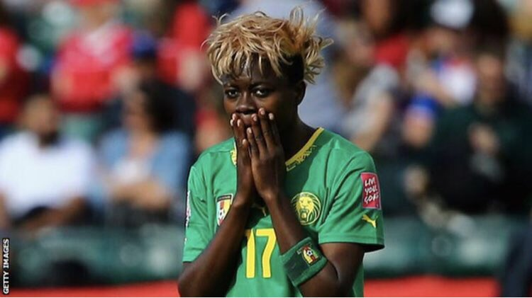 Cameroonian player Gaelle Enganamouit's home was vandalized