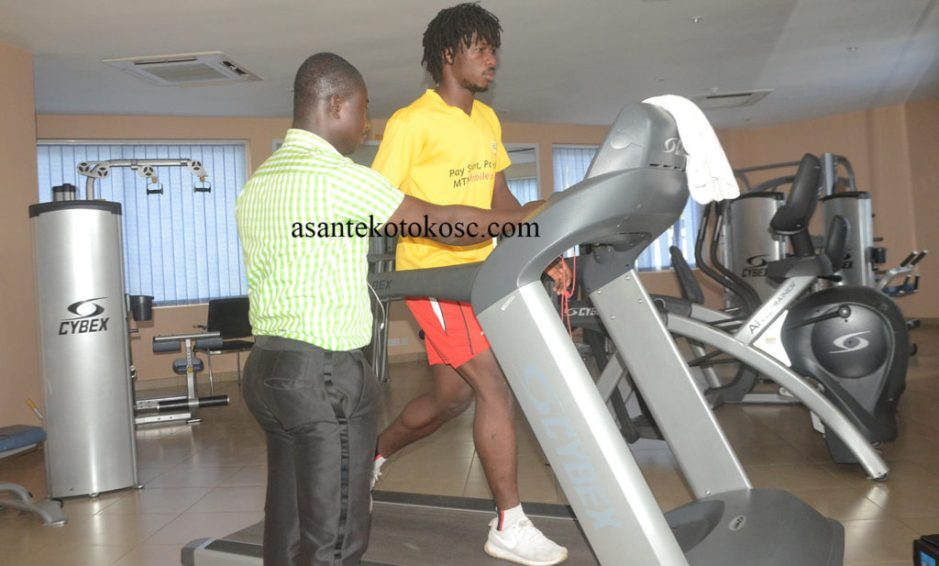Asante Kotoko striker Yacouba back in the gym as he steps up recovery