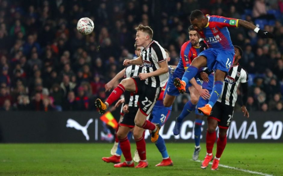 Jordan Ayew heads in Schlupp's cross to secure late win for Crystal Palace