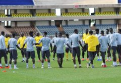 Breaking News: Black Stars players stranded outside camping hotel