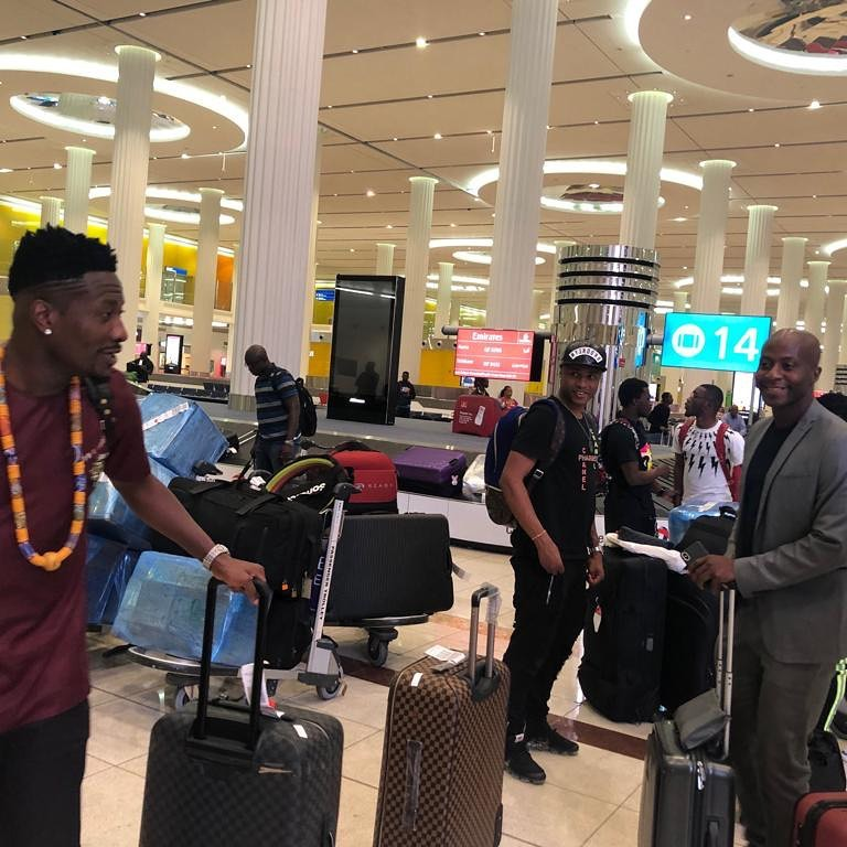 Pictures: Ghana Black Stars arrive in Dubai to begin AFCON preparations