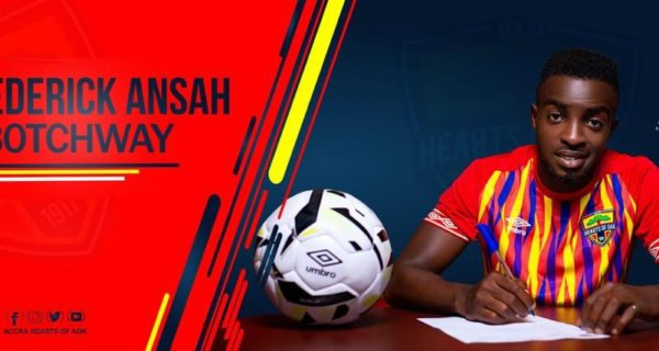 OFFICIAL: Hearts of Oak complete signing of Frederick Ansah Botchway