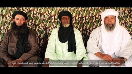 كوفا وهو يظهر بجوار إياد أغ غالي ويحيى أبو الهمام في شريط فيديو نشر قبل أيام