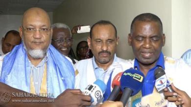 لقاء سابق بين بيرام ووزير الوظيفة العمومية، سيدنا عالي ولد محمد خونة