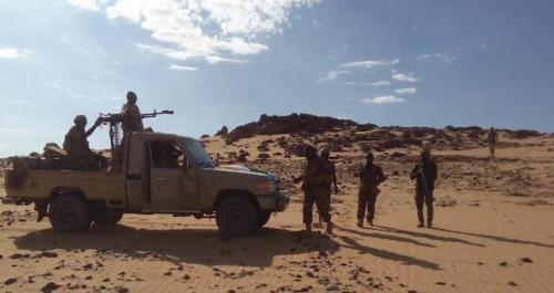 جنود من الكتيبة النيجرية في القوة العسكرية المشتركة لدول الساحل (G5 Sahel)