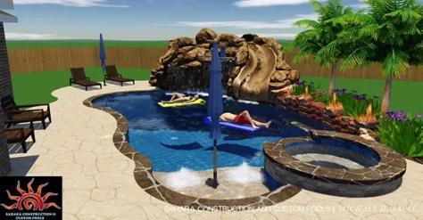 3D Custom Pool Design | Sahara Pools | Katy, TX