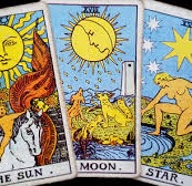 colour image of Tarot cards